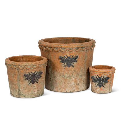 Moss Planter with Bee - Large, AC-Abbott Collection, Putti Fine Furnishings