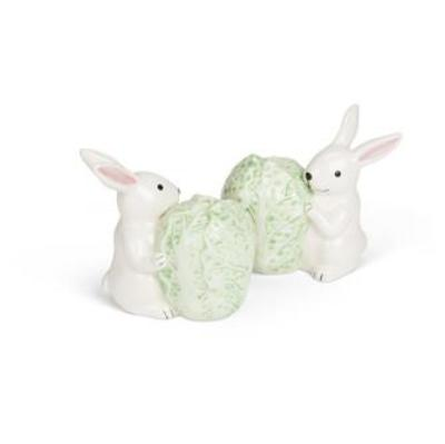 Rabbit with Cabbage Salt and Pepper, AC-Abbott Collection, Putti Fine Furnishings