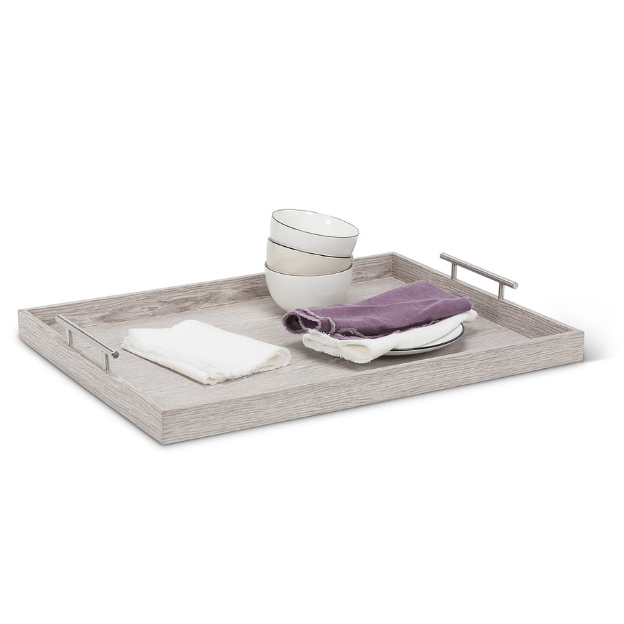 Wood Rectangle Tray with Handles