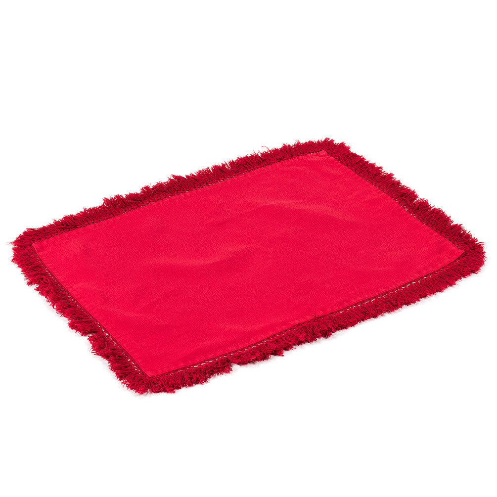 Tasselled Placemat - Red