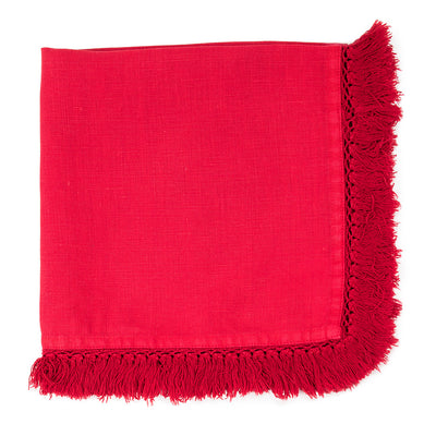 Tasselled Napkin - Red, AC-Abbott Collection, Putti Fine Furnishings