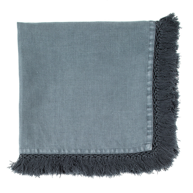 Tasselled Napkin - Steel Grey