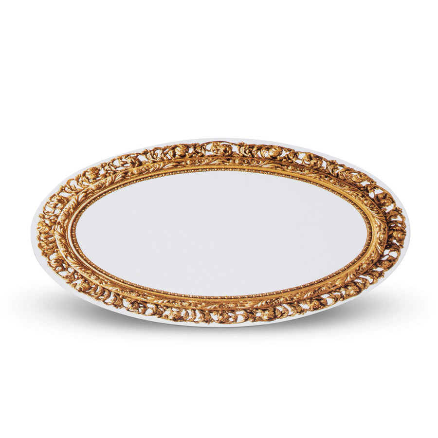 Oval Gold Frame Place Cards