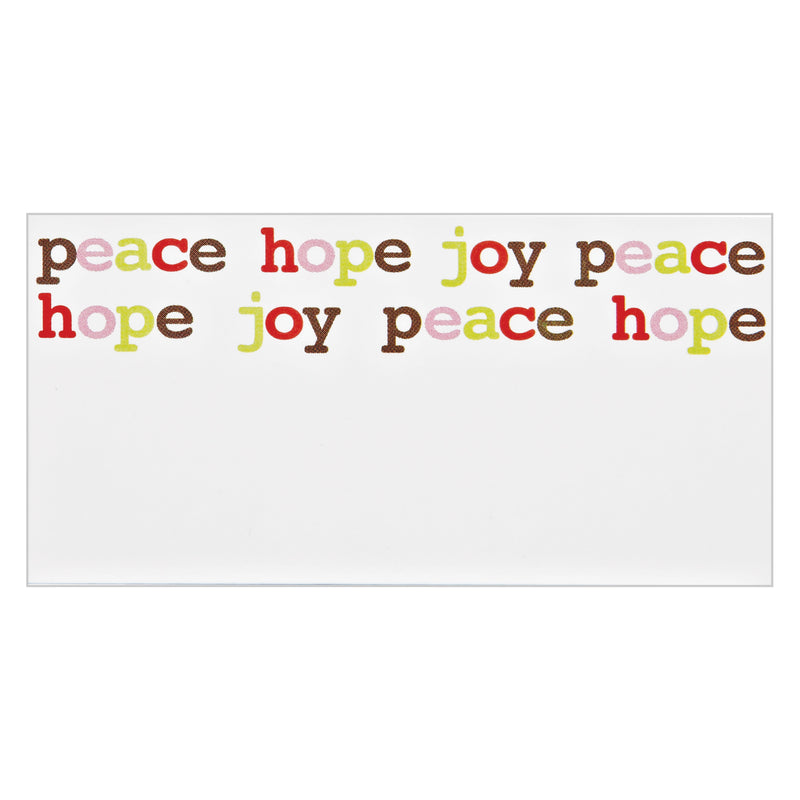 """Peace Hope Joy"" Place Cards"