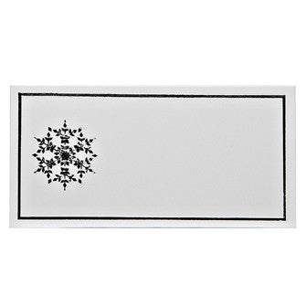 Silver Snowflake Place Cards