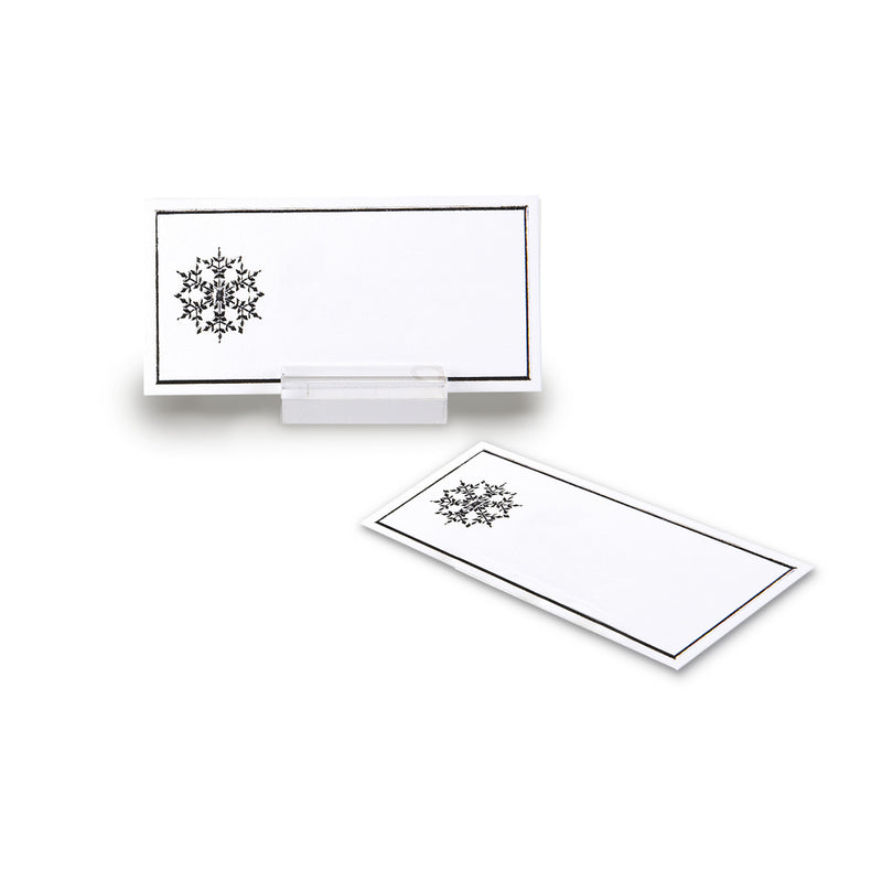 Silver Snowflake Place Cards, AC-Abbott Collection, Putti Fine Furnishings