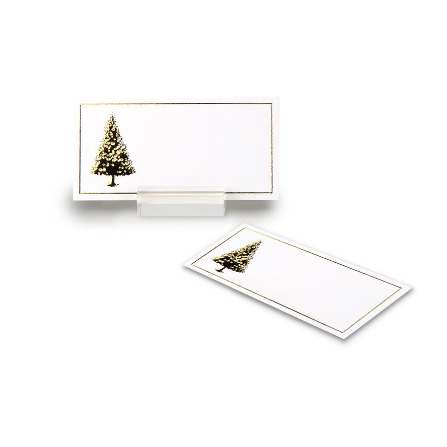 Gold Christmas Tree Placecards