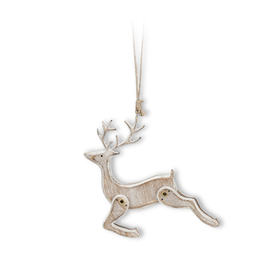 Leaping Reindeer Ornament-Christmas-AC-Abbott Collection-Putti Fine Furnishings