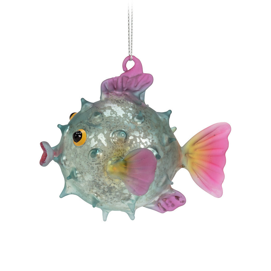 Pufferfish Glass Ornament