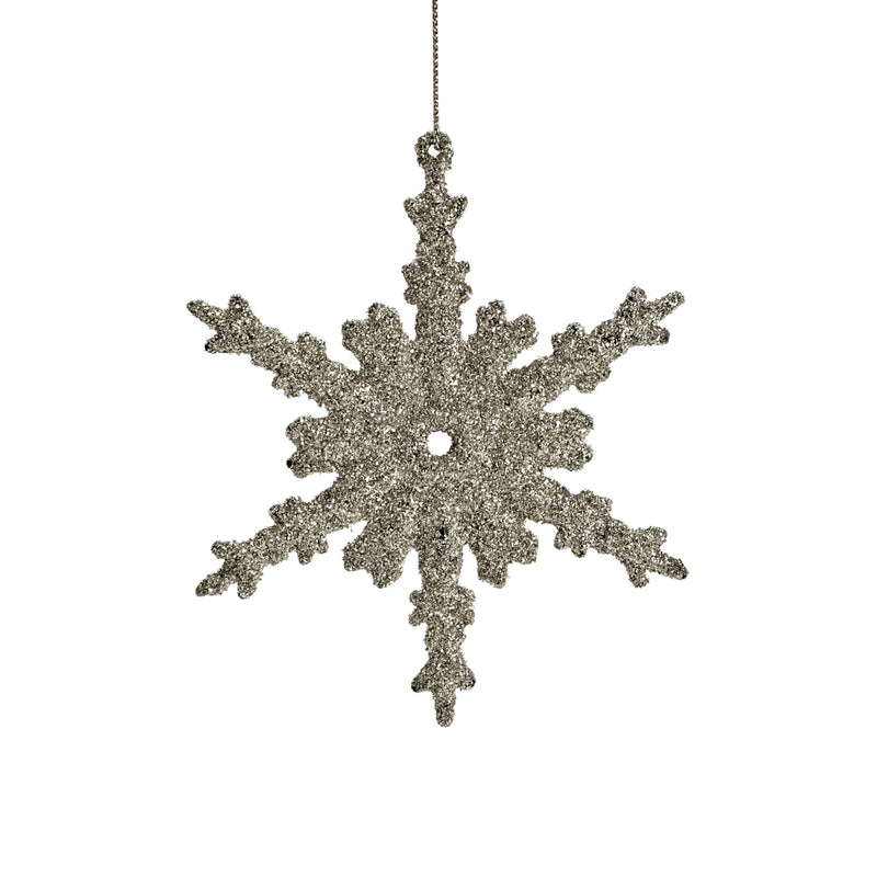 Flat Glitter Snowflake Ornament, AC-Abbott Collection, Putti Fine Furnishings
