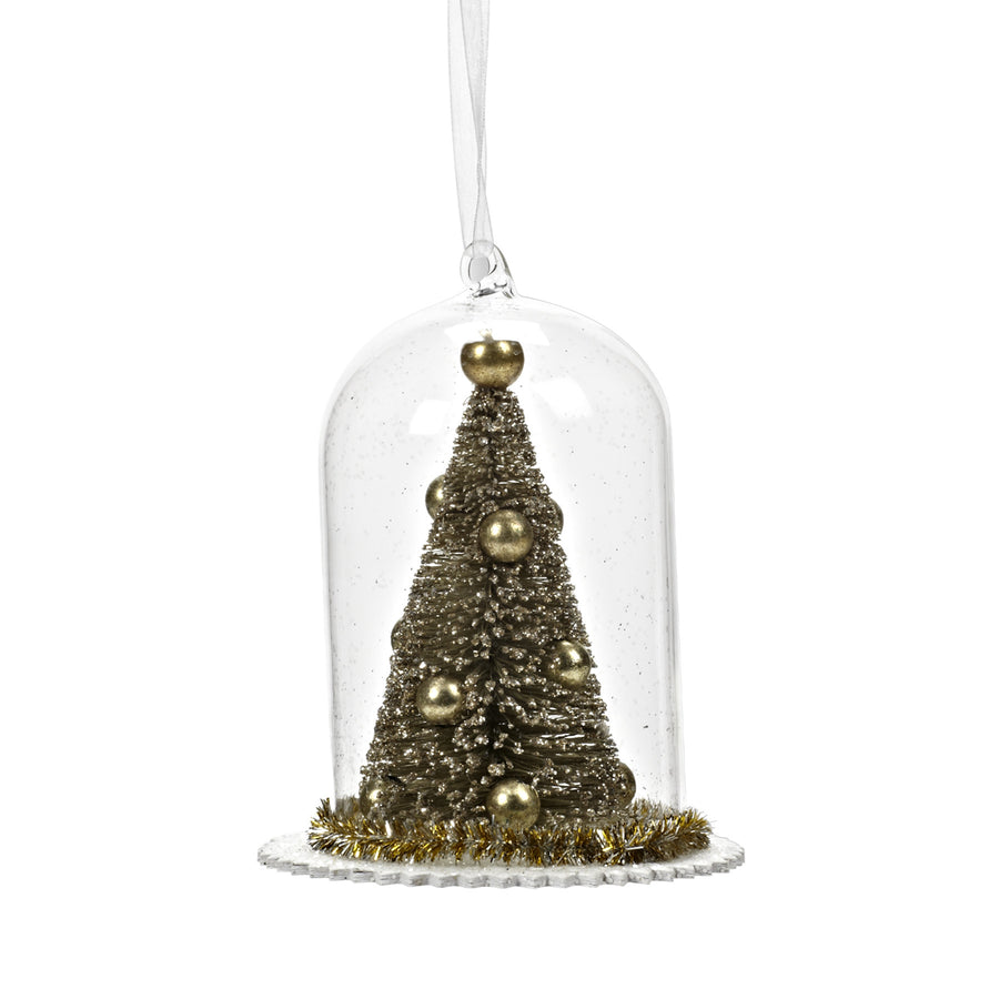 Domed Gold Tree Ornament