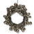 Vintage Tinsel Wreath with Bells Ornament