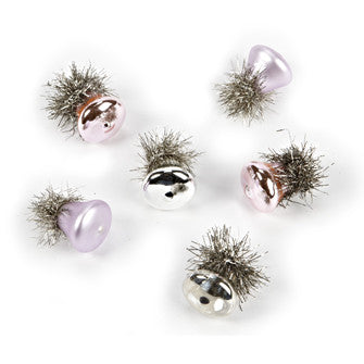 Set of Six Vintage Mini Bell Ornaments