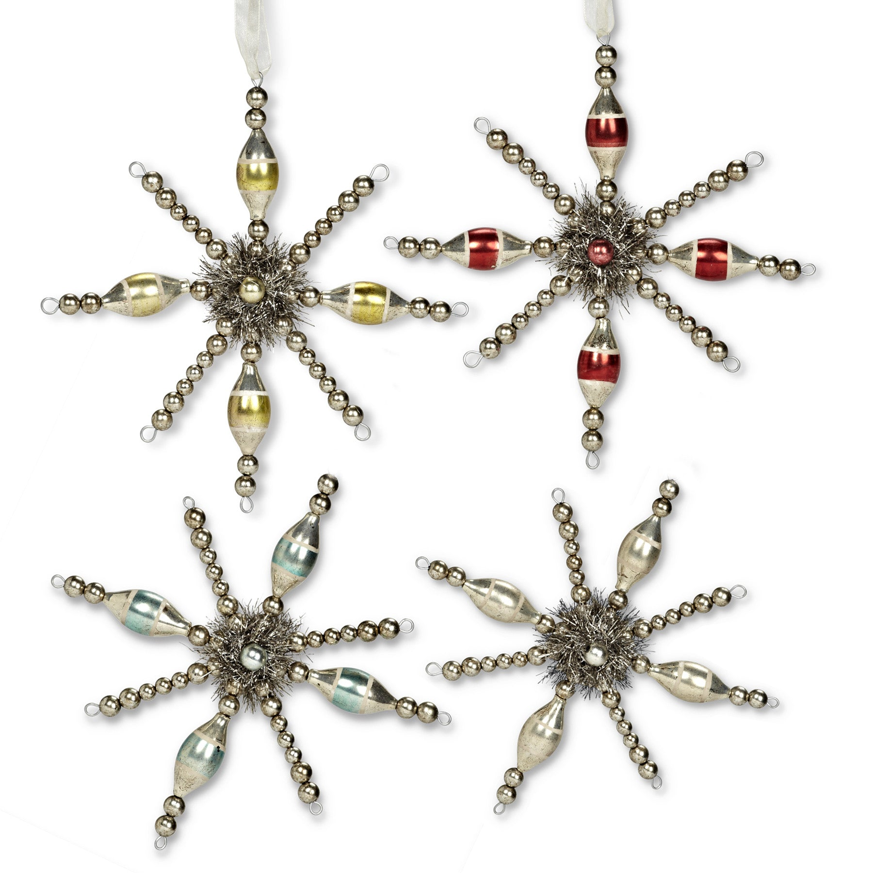 Tinsel Star Ornament, AC-Abbott Collection, Putti Fine Furnishings