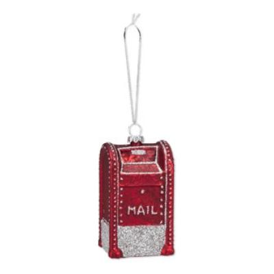 Red Mailbox Ornament -  Christmas - Abbot Collection - Putti Fine Furnishings Toronto Canada