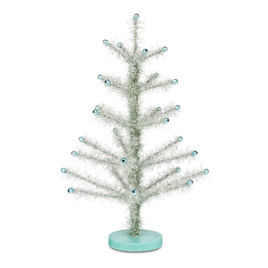 Aqua Tinsel Tree