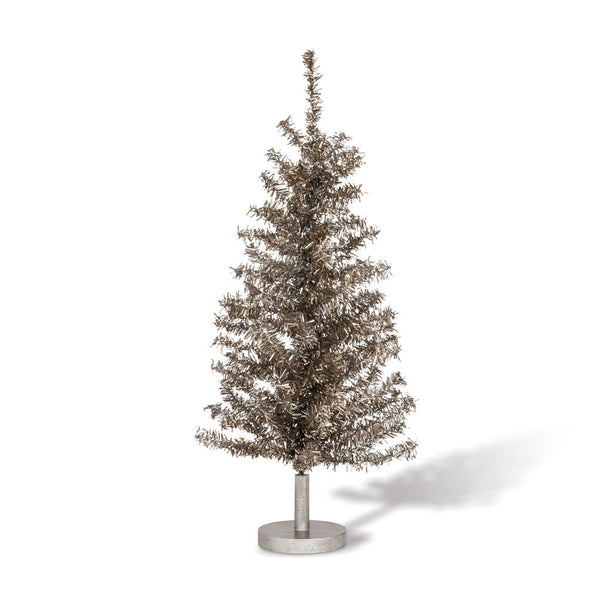 Silver Tinsel Tree -  Christmas Decorations - AC-Abbott Collection - Putti Fine Furnishings Toronto Canada