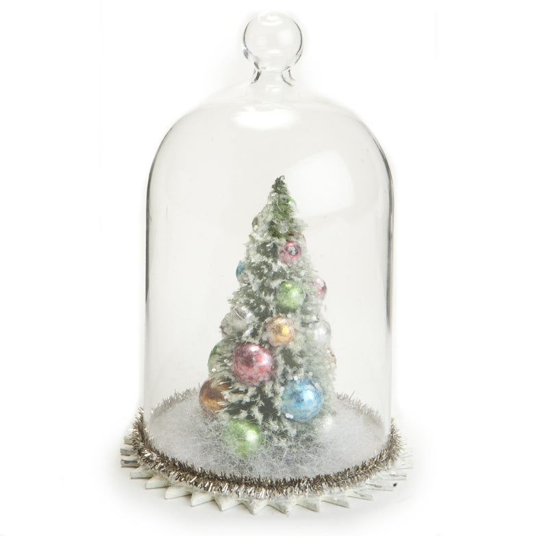 Brush Tree in Glass Dome -  Christmas - AC-Abbott Collection - Putti Fine Furnishings Toronto Canada
