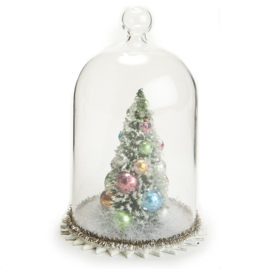 Brush Tree in Glass Dome