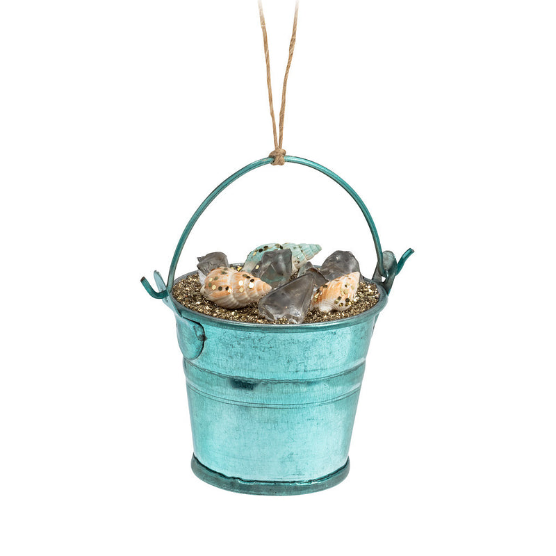 Bucket of Shells Ornament, AC-Abbott Collection, Putti Fine Furnishings