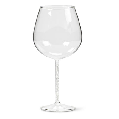 Goblet with Tiny Gem Stem - Clear -  Glassware - AC-Abbott Collection - Putti Fine Furnishings Toronto Canada - 1
