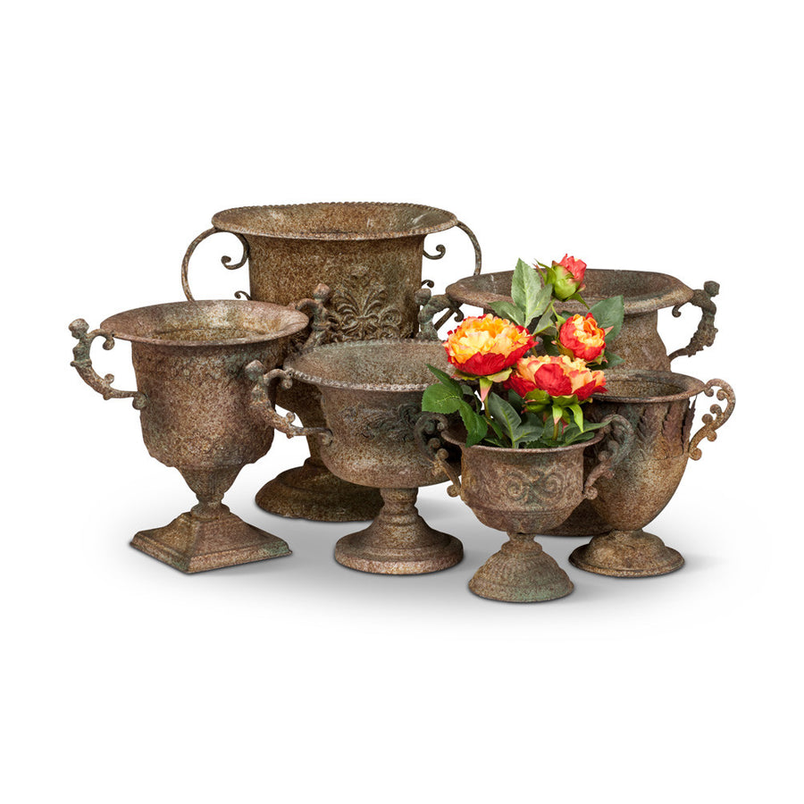 Low Wide Rustic Urn