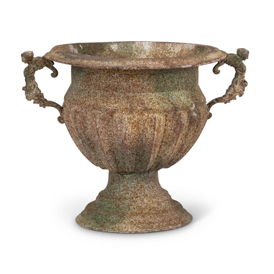 Large Ribbed Rustic Urn