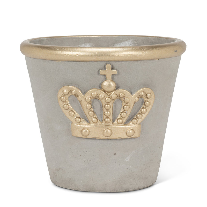 Large Planter with Crown