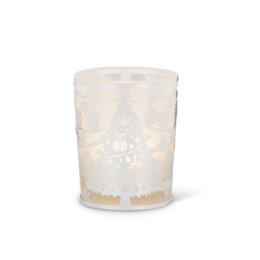 Christmas Tree Frost Votive Holder - Small -  Accessories - AC-Abbot Collection - Putti Fine Furnishings Toronto Canada