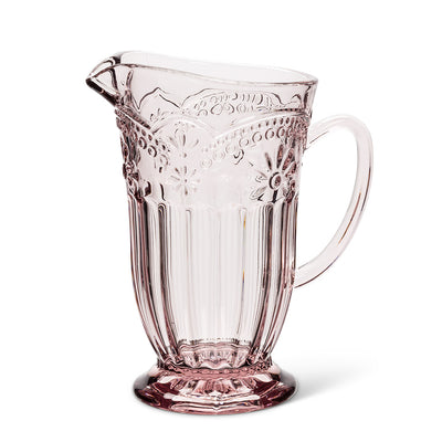 Pink Flower Glass Jug, AC-Abbott Collection, Putti Fine Furnishings