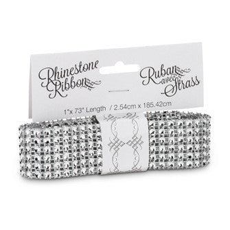 Thin Diamond Ribbon - Silver -  Christmas - Abbot Collection - Putti Fine Furnishings Toronto Canada