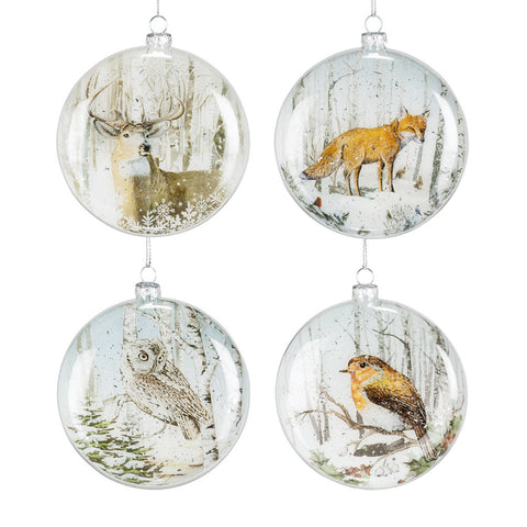 Disc Animal Ornaments -  Christmas - AC-Abbott Collection - Putti Fine Furnishings Toronto Canada