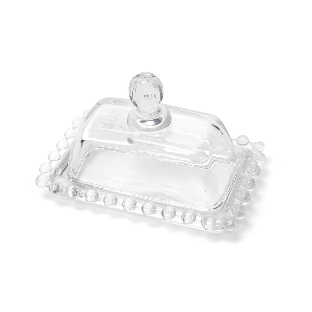 Rectangle Ball Rim Covered Butter Dish, AC-Abbott Collection, Putti Fine Furnishings