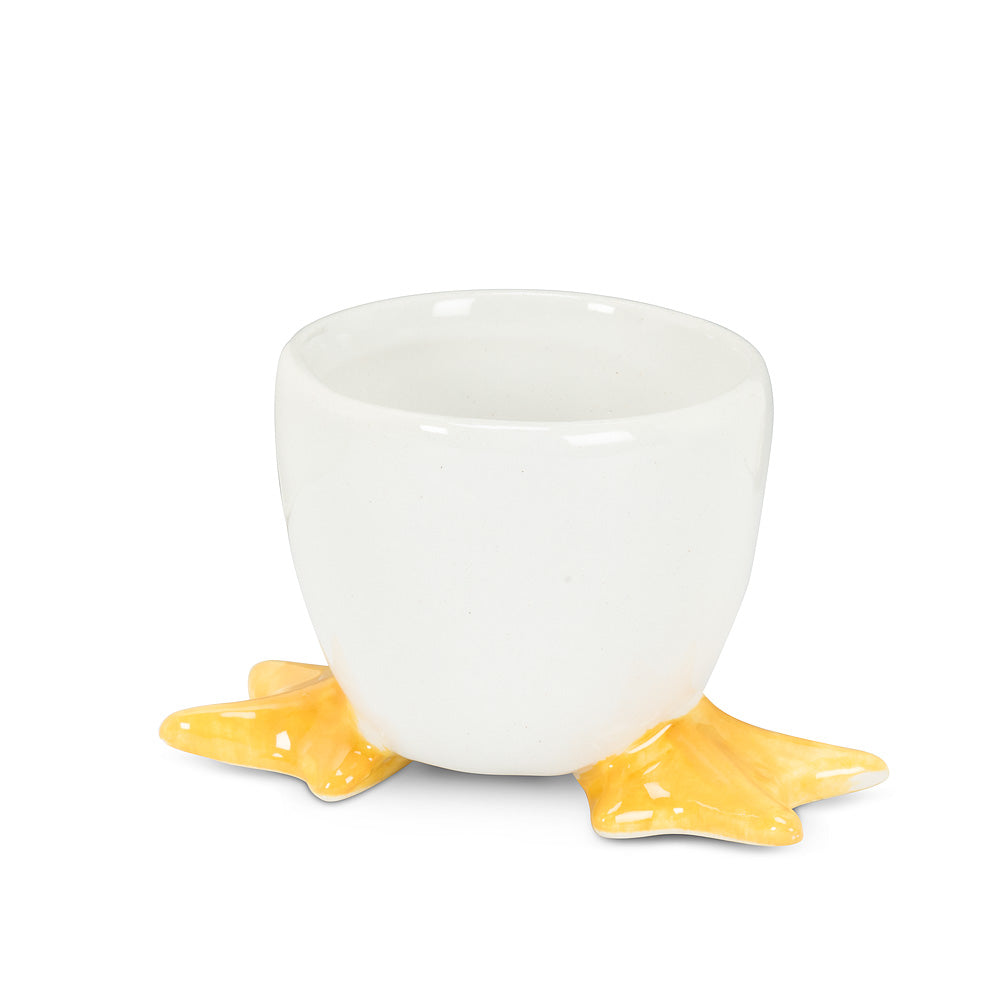 Egg Cup with Chick Feet | Putti Fine Furnishings Canada