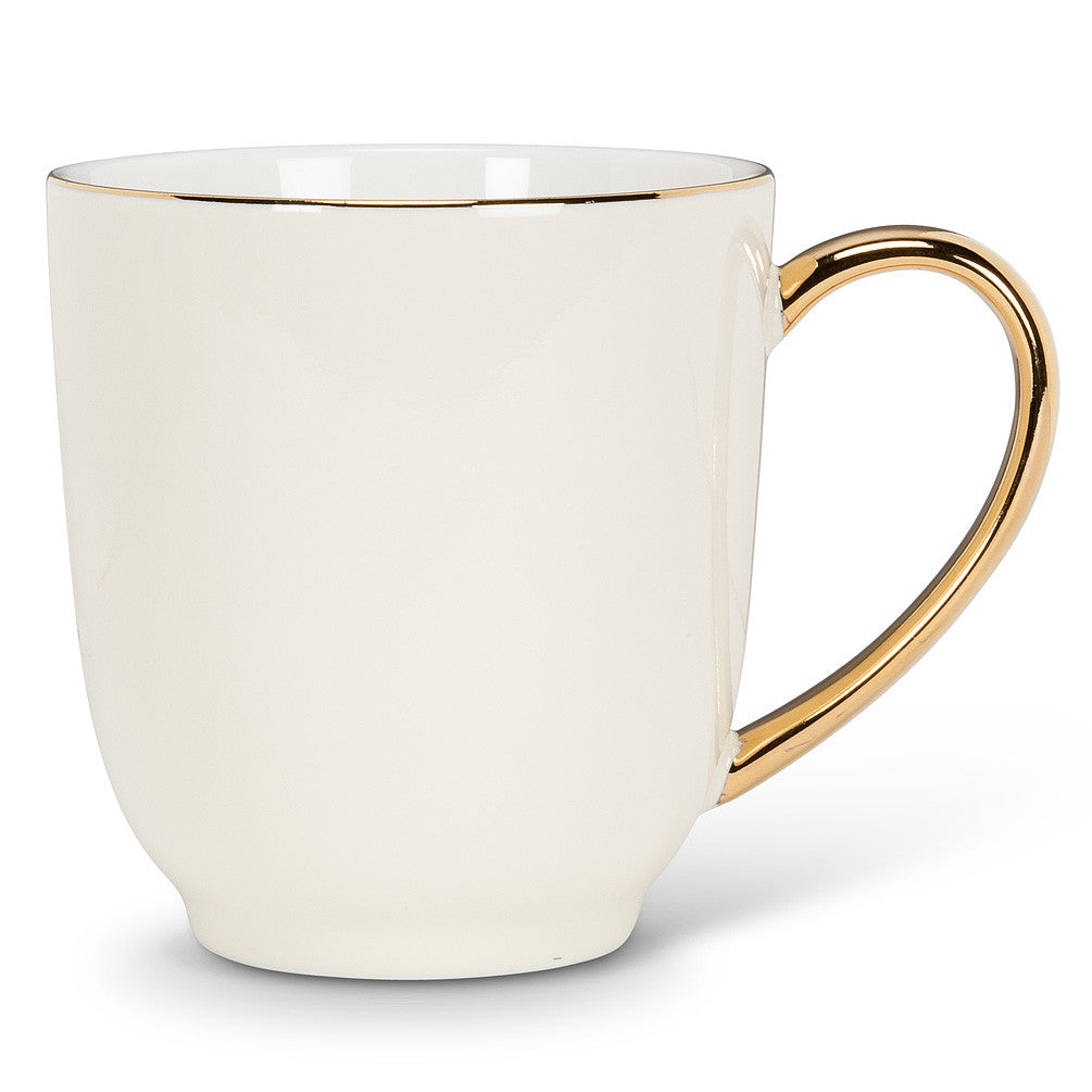 Mug with Gold Handle - Ivory