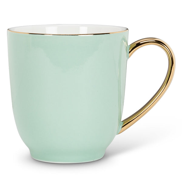Mug with Gold Handle - Mint-Tableware-AC-Abbott Collection-Putti Fine Furnishings