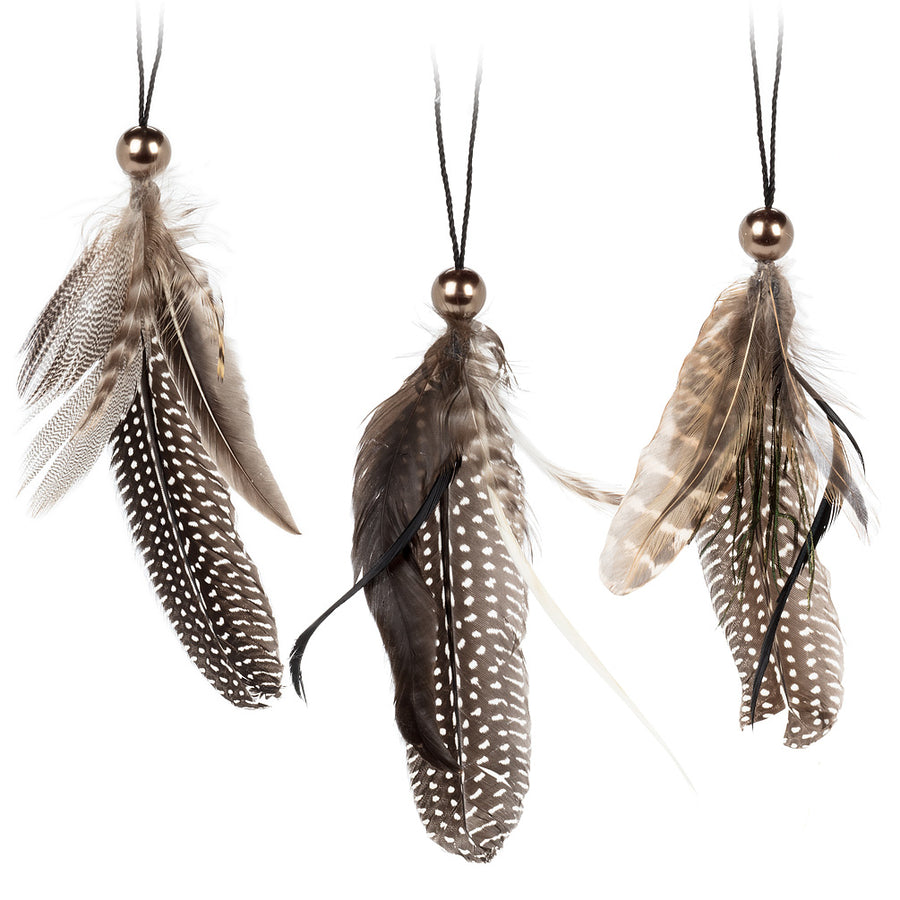 Feather with Bead Ornament