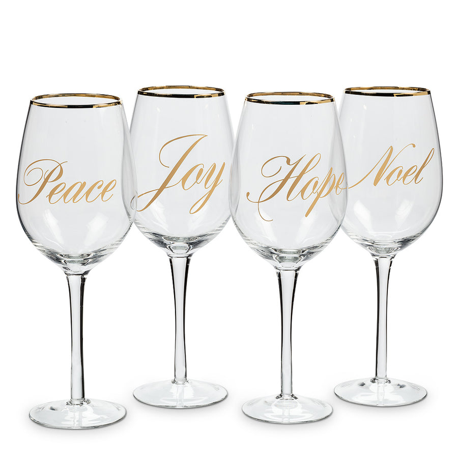Holiday Words Goblets