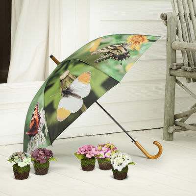 Stick Umbrella with Assorted Butterflies | Putti Fine Fashions Canada