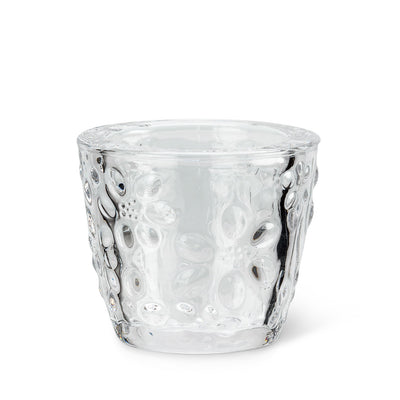 Embossed Flower Tealite Holder | Putti Fine Furnishings Canada