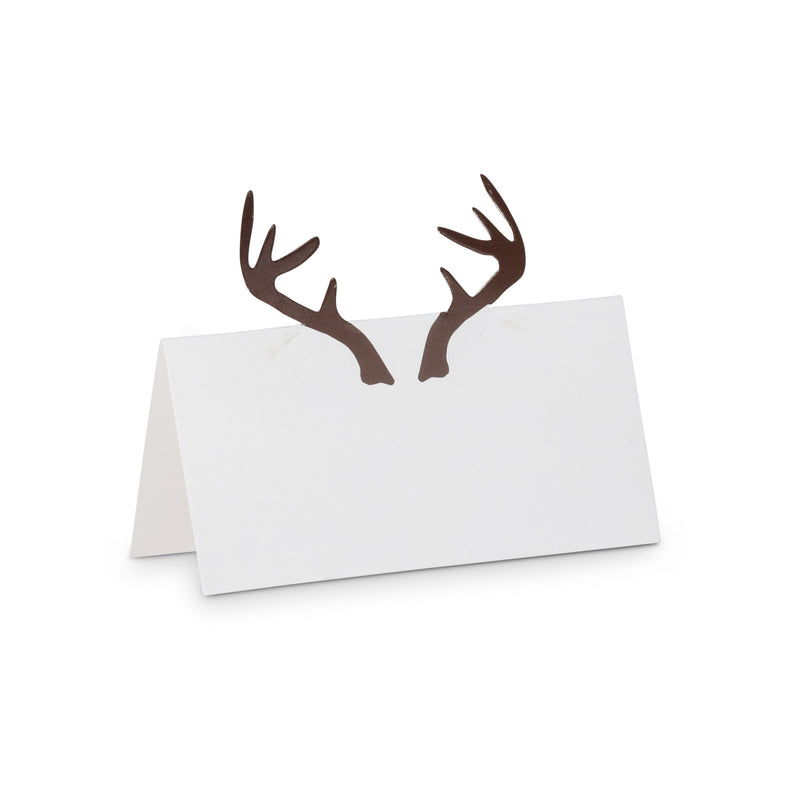 Folding Deer Antler Place Cards -  Christmas - AC-Abbott Collection - Putti Fine Furnishings Toronto Canada