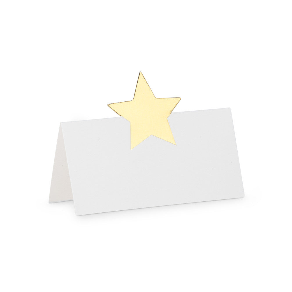 Folding Gold Star Place Cards -  Party Supplies - AC-Abbott Collection - Putti Fine Furnishings Toronto Canada