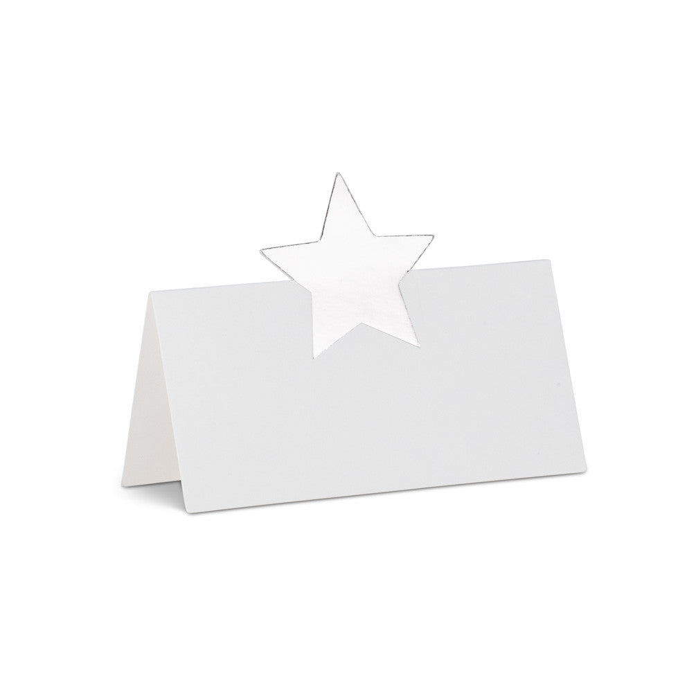 Folding Silver Star Place Cards, AC-Abbott Collection, Putti Fine Furnishings