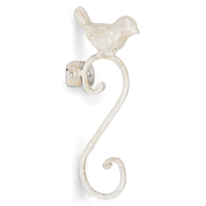 Small Bird Wall Hook - White