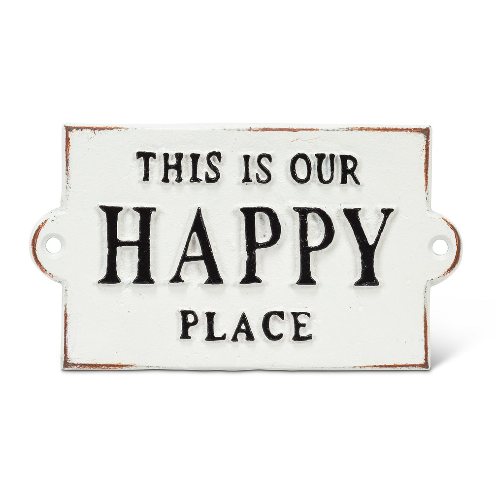This is our Happy Place Wall Sign, AC-Abbot Collection, Putti Fine Furnishings