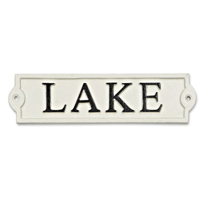Lake Wall Sign