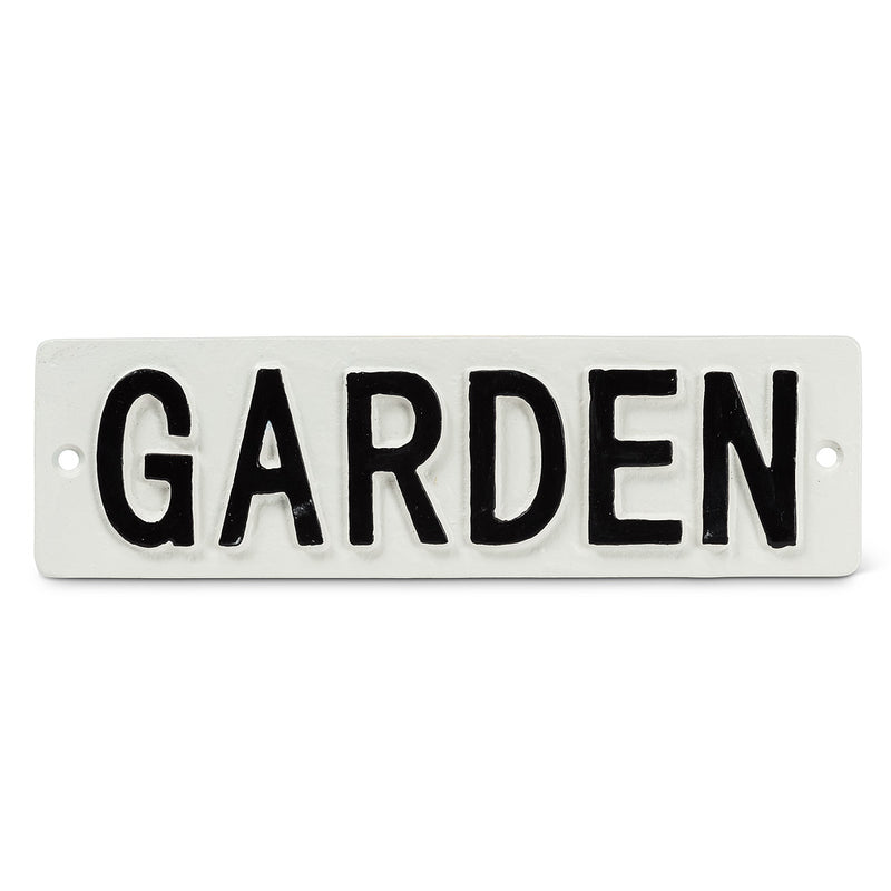 """Garden"" Wall Sign, AC-Abbott Collection, Putti Fine Furnishings"