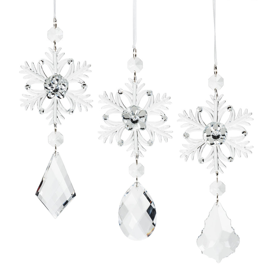 Snowflake with Gem Drop Ornament - Putti Celebrations Canada