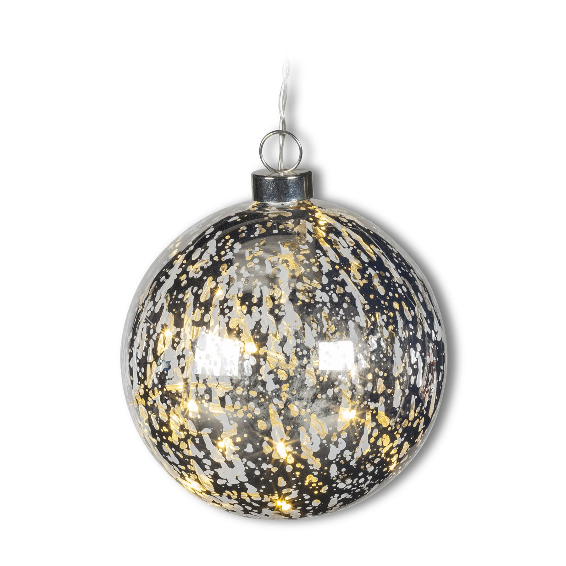 Hanging Ball LED Light - Silver, AC-Abbott Collection, Putti Fine Furnishings