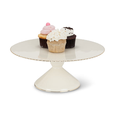 Gold Rim Pedestal Cake Stand - Large, AC-Abbott Collection, Putti Fine Furnishings
